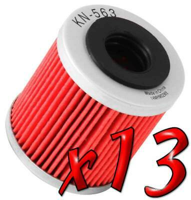 13 Pack: Oil Filters Pro Powersports Cartridge KN. - For Derbi, Piaggio Scooter
