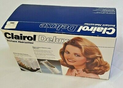Clairol Deluxe Instant Pageant Vintage 20 Wax Core Hot Rollers Curlers 1984 New