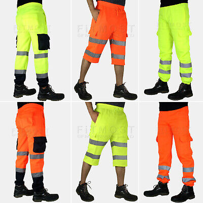 Hi Viz Vis Bottoms Elasticated High Visibility Shorts High Visibility Work Pants
