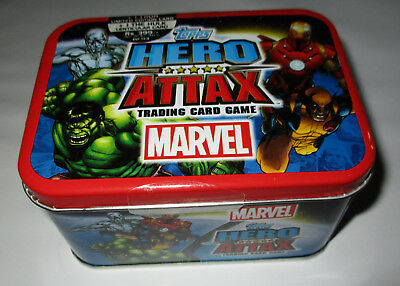 Topps Marvel Hero Attax Trading Cards -New/Sealed But Tin May Have Imperfections