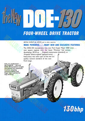 DOE-130 (Ford Super Major 5000 Unit) Tractor Poster (A3) - (3 for 2 offer)