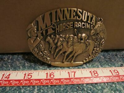 Minnesota Horse Racing ~ Belt Buckle ~ ADM Jockey