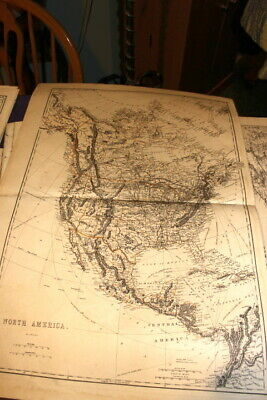 #4119,Large Map SOUTH AMERICA 1875, From Hardesty Atlas