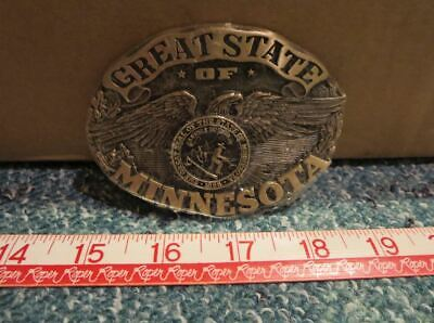 Great State of Minnesota ~ Belt Buckle ADM Great Seal of the State of Minnesota
