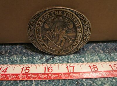 The Great Seal of the State of Minnesota ~ Belt Buckle ~ ADM ( Smaller )
