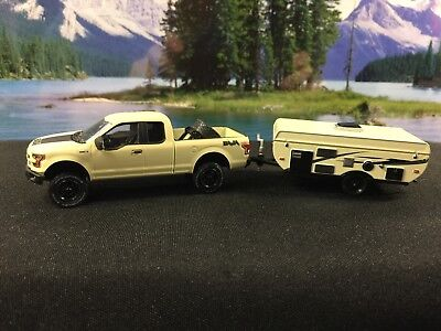 GREENLIGHT HITCH & Tow Black Ford F150 Foose Rims With Matching Car