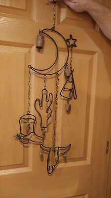 PERFECT! Southwest/Western Theme Bell Cast Iron Wind Chime