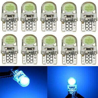 10x T10 194 168 W5W COB 8SMD LED CANBUS Silica Ice Blue License Light Bulb NEW