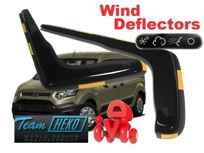 External Fit FORD TRANSIT CONNECT 2014 ON DGA WIND DEFLECTORS Dark Smoke