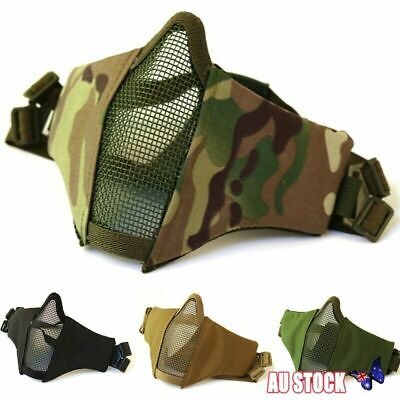 Airsoft Mask Tactical Hunting Foldable Half Face Protective Mesh for Paintball