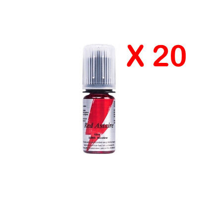 ★★ RED ASTAIRE e-liquide Lot de 20 X 10 ml T-JUICE 0 mg 3 mg 6 mg 12 mg 18 mg ★★