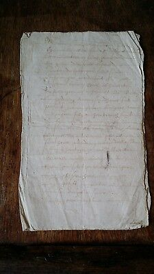 1600 Antique Early 17Th Century French Manuscript - Seven Pages