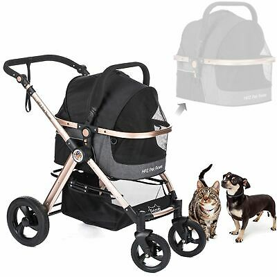 PET ROVER PRIME™ Luxury 3-in-1 Stroller for Small/Medium Dogs, Cats and Pets (Bl