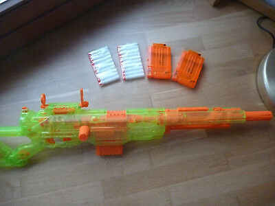 Nerf Long Strike Cs 6   Longstrike CS-6 Transparent  Rarität