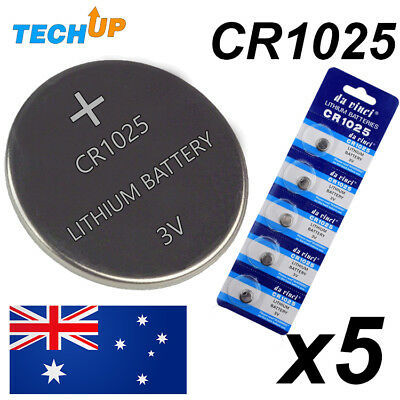 Cr1025 x5 lithium coin/button cell watch battery 3v Au stock in Melbourne