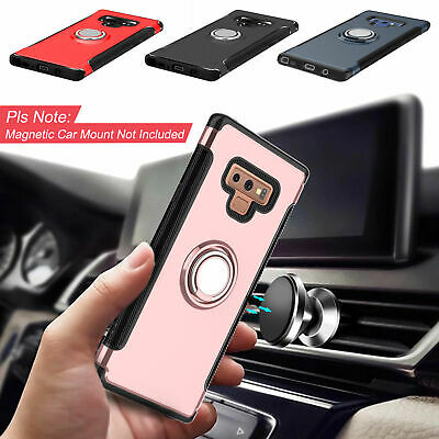 Hybrid Rugged Ring Stand Shockproof Case For Samsung Galaxy S8 S9 Plus Note 9