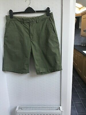 62685e38b5 Green Chino Next Fashion Shorts Samuel Windsor Quality Flat Front Cove 34