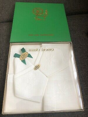 Irish Linen Handkerchiefs BNIb