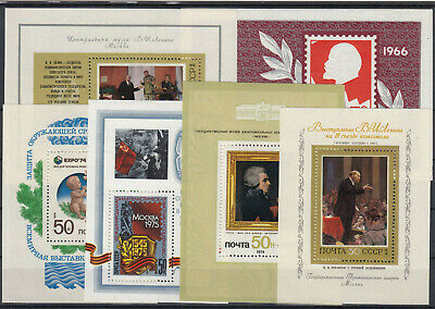 Soviet Union / Russia 1966 - 1975 ☀ 6 different blocks ☀ 6v MNH - see scan