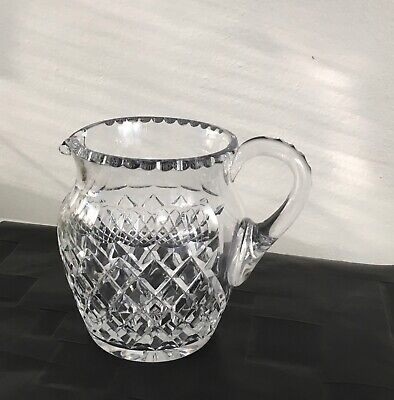 STUNNING 1960's LARGE CRYSTAL DIAMOND CUT JUG