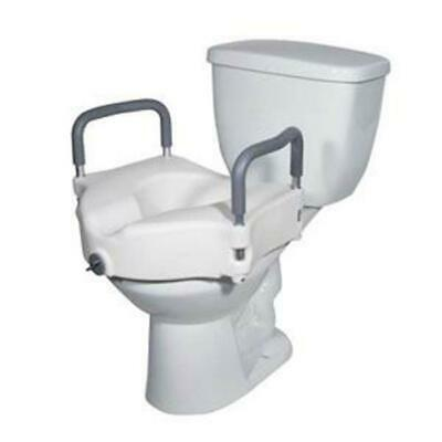 DRIVE MEDICAL 6VB3ze1 1 EA RTL12027RA 2 in Locking Elevated Toilet Seat with 300