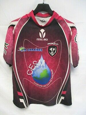 Maillot rugby ARCHI GIRLS porté n°3 féminin PINK and GO shirt jersey L