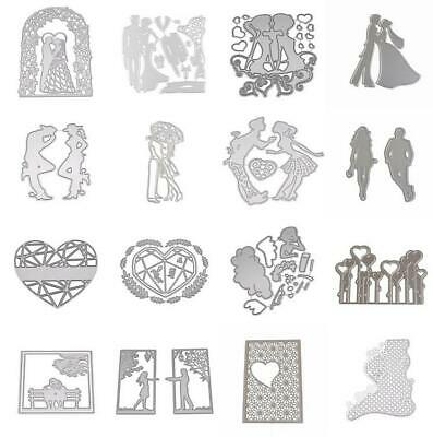 Wedding Love Heart Cutting Dies Frames Metal Stencil Scrapbooking Die Cuts DIY
