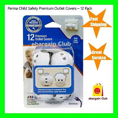 Perma Child Safety Premium Outlet Covers – 12 Pack eBC