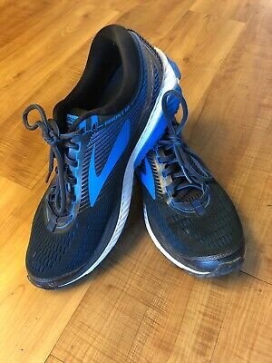 8d0ccff7894 BROOKS MENS GHOST 10 Silver Blue White Running Shoes Size 10.5 M ...