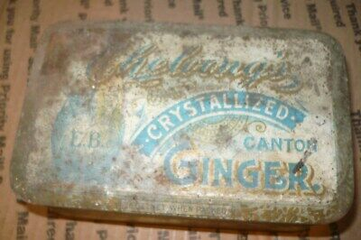 VTG Cheloong's Crystallized Canton Ginger Tin EDWARD BENNECHE & BRO. NY