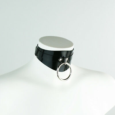 Heavy Rubber Shaped O Ring Collar - 5 colours available- post-fetish latex gummi