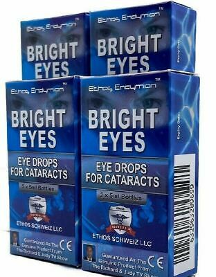 Ethos Bright Eyes Eye Drops for Cataracts 4 Boxes 40ml