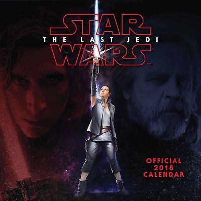 Star Wars Episode 8 VIII The Last Jedi Official 2018 Calendar New and Sealed