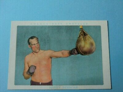 Spanish Old Sticker  Card  1920´ Boxing Sport  Harry Persons
