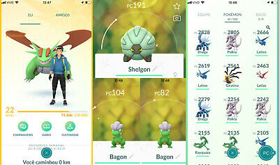 Premium Pokemon Go Account - Salamence, Shelgon & Bagon Shiny & +20 Legendary !!