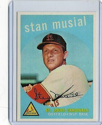 Stan Musial 1959 Topps BASEBALL card #150 St. Louis Cardinals / REPRINT