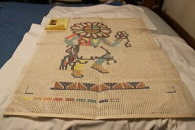 TAWA KACHINA Pattern  on Canvas with Instructions & Yarn Count CANVAS ONLY