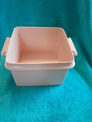Vtg Tupperware Replacement Square Away Sandwich Keeper Container 1674 Pink