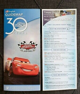 Disney's Hollywood Studios 30th Anniversary Guidemap 2019