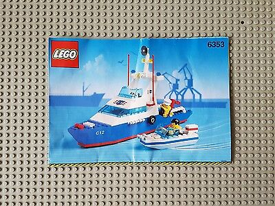 Lego® Custom Transparant Pre-Cut Sticker for Coast Guard 6353 Coastal Cutter