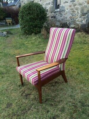 A Vintage Danish Style  Parker Knoll Armchairs