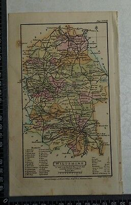 1808 Antique Original Hand Coloured Capper Map of Wiltshire