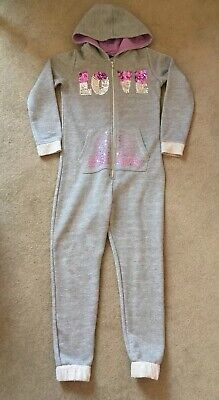 Grey All In One Sparkly Onesie (not Gerber) All-In-One - Age 7-8 Years - VGC