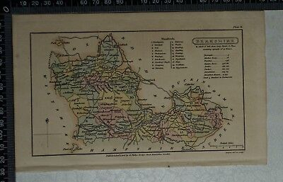 1808 Antique Original Hand Coloured Capper Map of Berkshire
