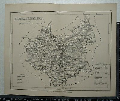 1846 Archer / Dugdale Map of Leicestershire