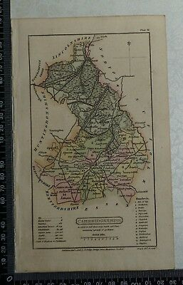 1808 Antique Original Hand Coloured Capper Map of Cambridgeshire