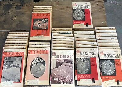 Lot of 39 Vintage Workbasket Magazines Craft 1950's 1960's See Description Pics