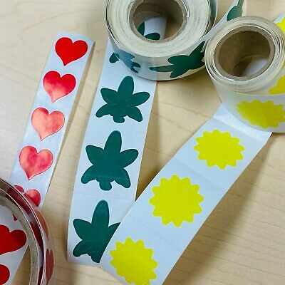 50 or 100 Red Heart Stickers, Tanning Tattoos Sticker Tantoos or for Envelopes