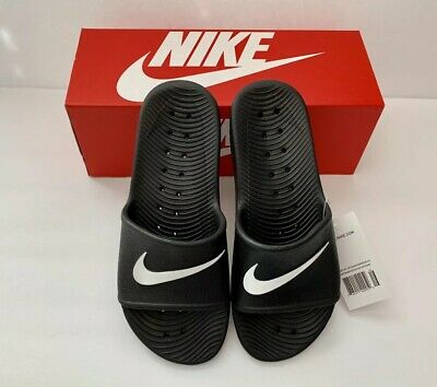 abf6c073383e NEW Nike Size 8 Mens Kawa Slippers Slide Shower Sandals 832528-001 Black  White