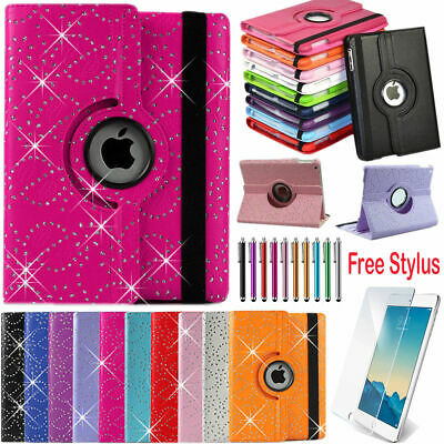 Leather 360° Rotating Stand Case Cover Fits Apple iPad 5 6 Genr.. 7.9, 9.7, 10.5